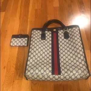 Vintage Gucci Tote and Wallet